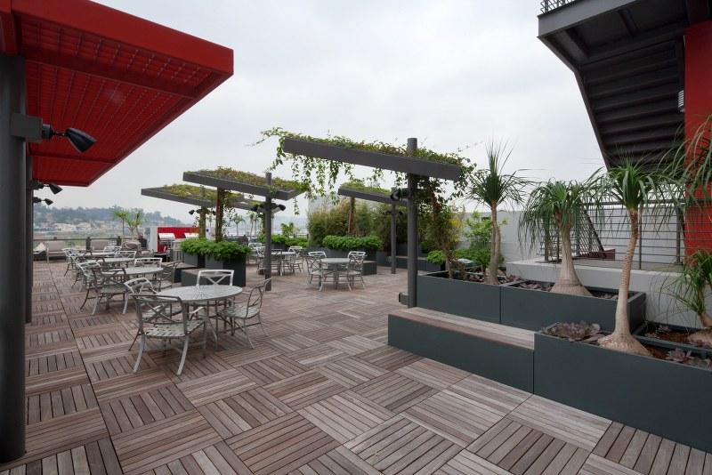 Metro China town senior lofts terrace view1