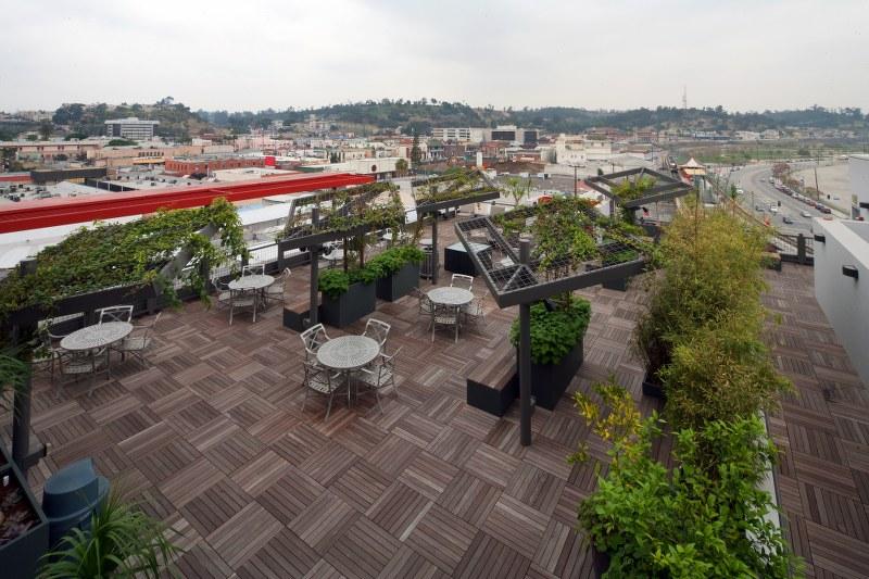 Metro China town senior lofts terrace view